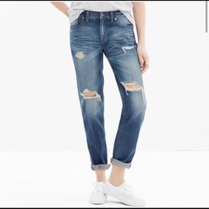 Madewell Boyjean Torn Up Distressed Jeans